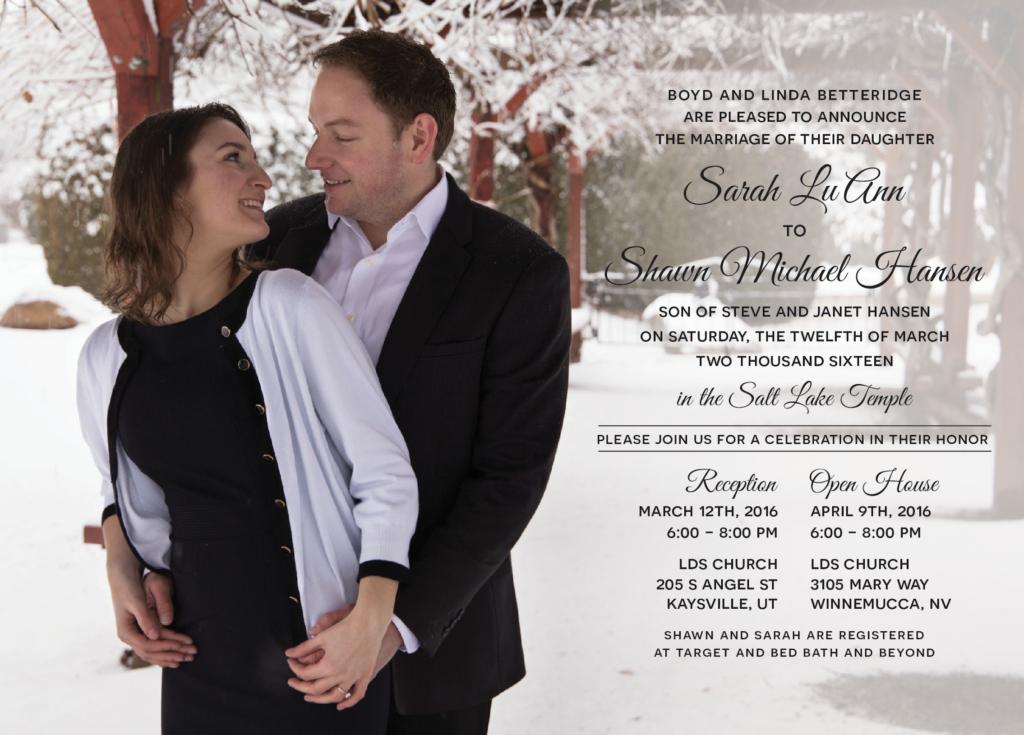 sarah Wedding invites