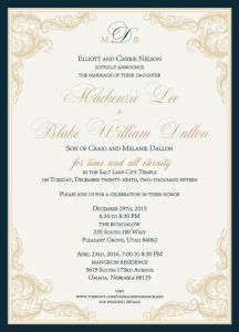 Mackenzie and Blake Front wedding invites