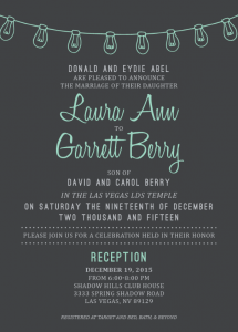 Laura and Garrett Front Wedding Invitations