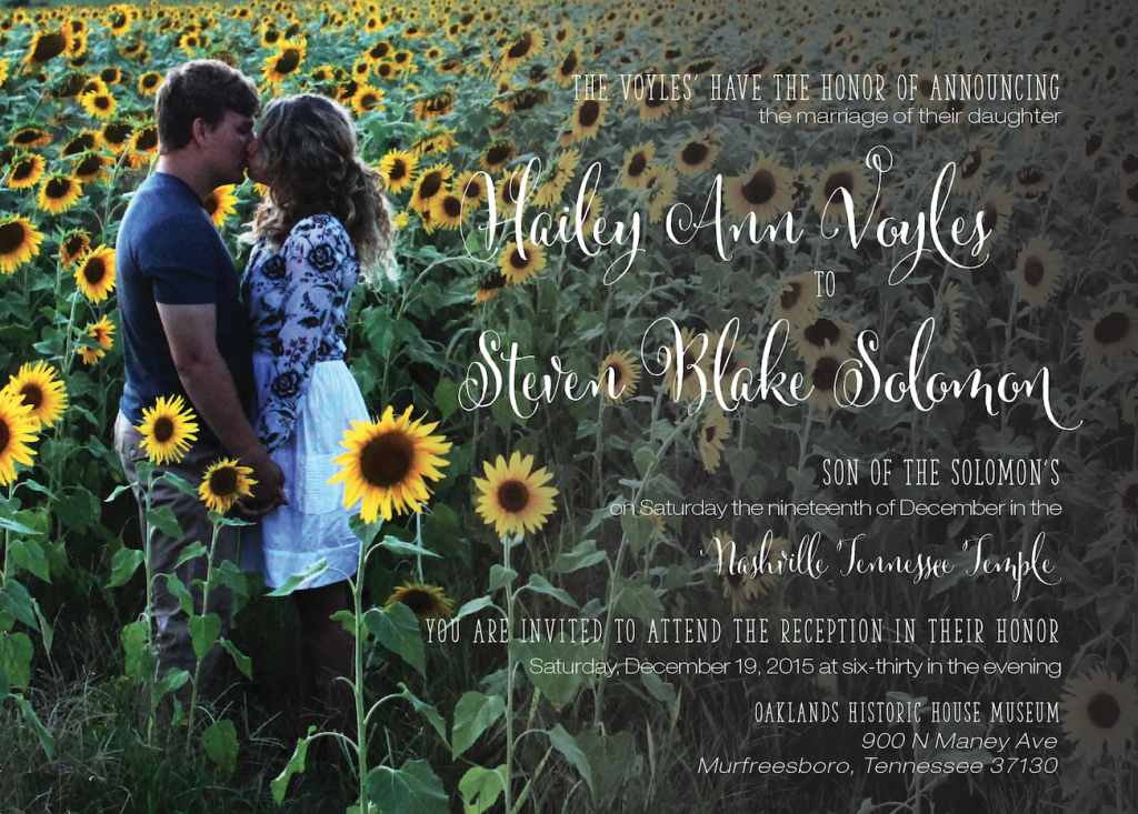 hailey wedding invites
