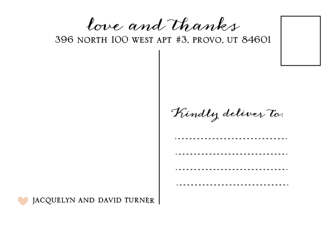 Jacquelyn and David thank you back