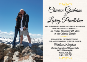 Larry and Cherise 5x7 front Wedding Invitations