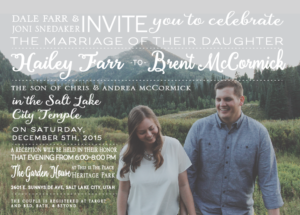 Hailey and Brent Front Wedding Invitations