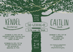 Caitlin and Kendel 5x7 front Wedding Invitations