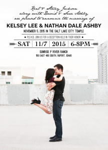 Kelsey and Nathan Front Wedding invitations