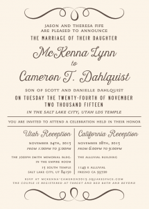 mckenna_front_web Wedding Invitations