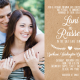 Lani and Russell 5x7 front Wedding invitations