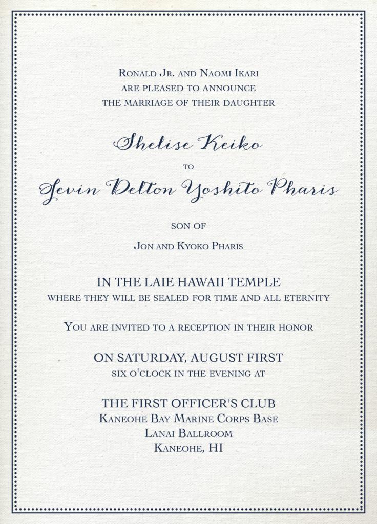 Shelise-Ikari Wedding Invitations