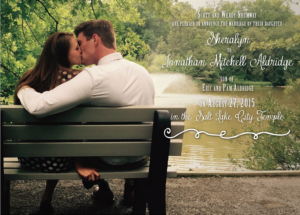 Sheralyn and Jonathan Front Wedding Invites