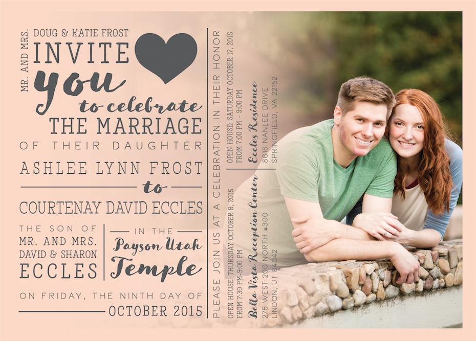 Wedding announcements Utah