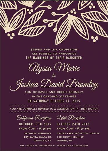 Utah Wedding Announcements