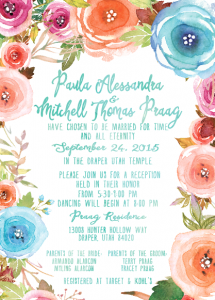 Paula and Mitch front Wedding Invites