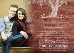 Tara and Richard Front Wedding Invitations