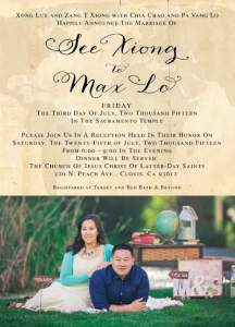 See and Max Front wedding invitations