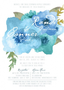 Randi and Conner Front Wedding Invitations