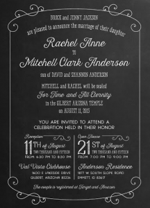Rachel and Mitchell Front wedding invitations