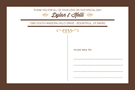 Kelli and Dylan THC Front Wedding ivitations