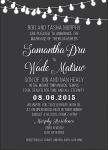 Samantha and Wade Front Wedding Invitations Maker