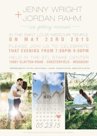 Jenny and Jordan Front Wedding Invitations