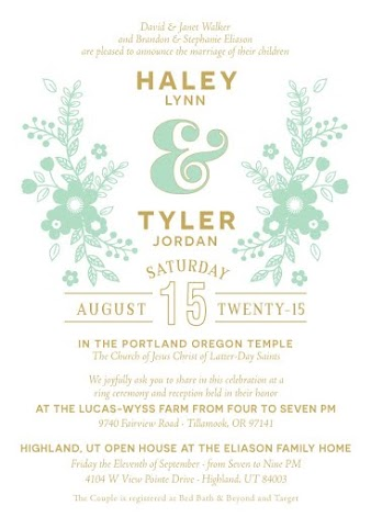 Tyler and Haley Wedding Announcements
