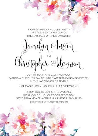 Jamilyn and Christopher Front Wedding Invitations