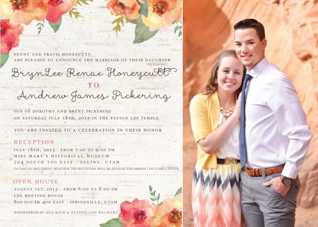Brynlee and Andrew Front Wedding Announcements