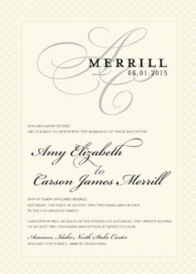 Amy and Carson Front Wedding Invitations