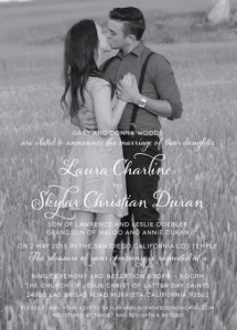 Skylar and Laura Front Wedding Invitations