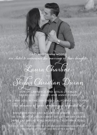 Skylar and Laura Front Wedding Invitations