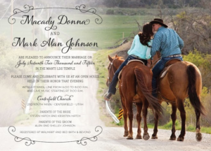 Macady and Mark Front Wedding Invitations