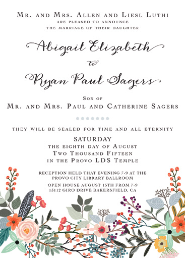 Abigail and Ryan Front Weddin Invitations