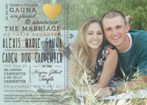 Alexis and Caden Front Wedding Invitations