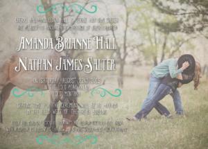 Amanda and Nathan Front Wedding Invitations