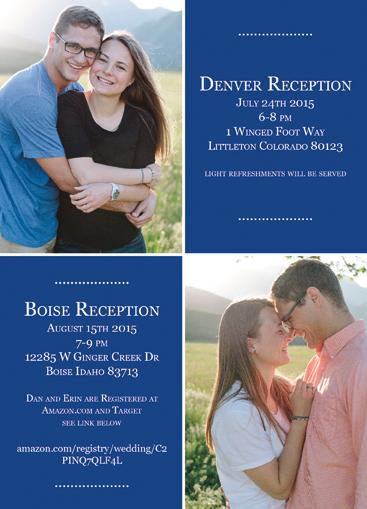 Erin and Daniel Wedding Invitations