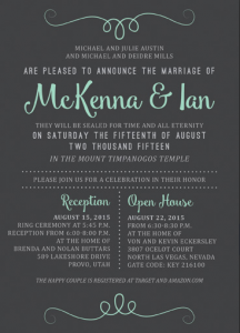 McKenna and Ian Front Wedding Invitations