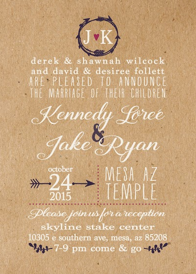 Utah Wedding Announcements