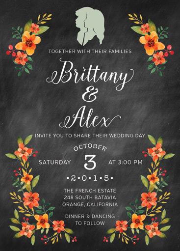 WEDDING INVITATION 5x7 (vertical)