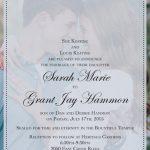 Sarah Keating Front Wedding Invitations