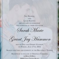 Sarah Keating Front Wedding Invitations
