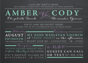 amber_front Wedding Invitations