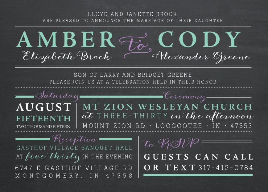 amber_front Wedding Invitations