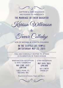 Karissa-back-FINAL Wedding Announcements