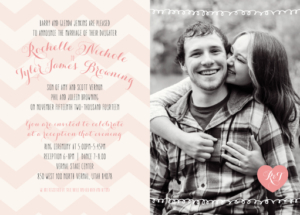 rochelle-tyler-announcement-back Wedding Invitations