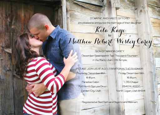 Kila-Matthew-announcement-front wedding invitations