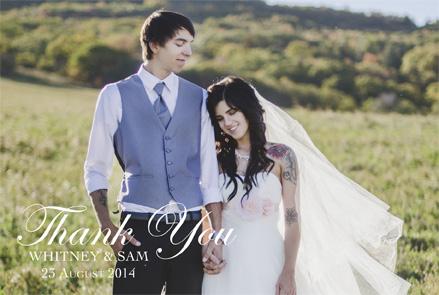 Whitney Trevino Thank You Front Wedding Invitations