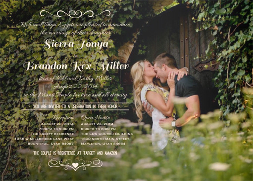 Sierra Eggett Front Wedding Invitations