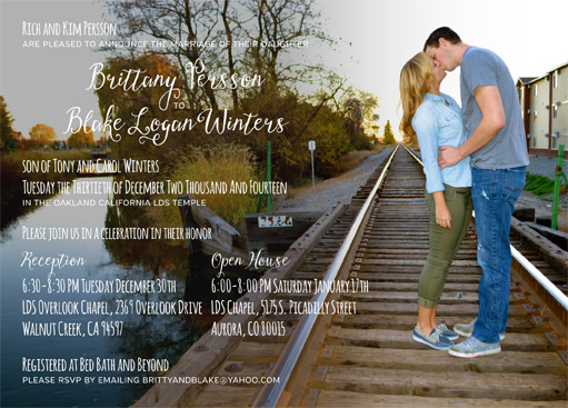 Rich Persson Front Wedding Invitations
