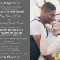 Paige Holt Back Wedding Invites