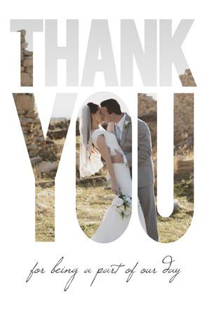 Nicole Price Thank You Front Wedding Invitations