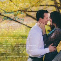 Nichole Price Front Wedding Announcements